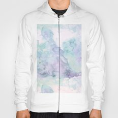 Pastel modern purple lavender hand painted watercolor wash Hoody