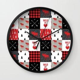Wild At Heart Lumberjack Quilt Pattern Wall Clock