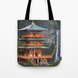 Pagoda and Nachi Falls in the Wakayama Prefecture, Japan Tote Bag