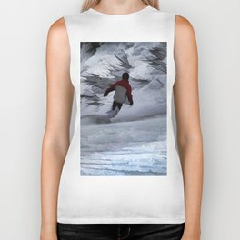 "Snowboarder ""Carving the Mountain"" Winter Sports Biker Tank"