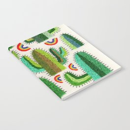 Cacti and Rainbows Notebook