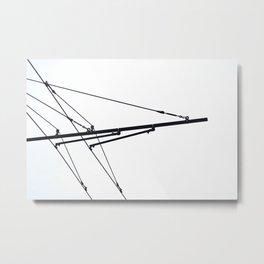 wires Metal Print