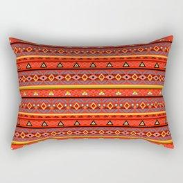 Orange ornament Rectangular Pillow