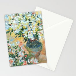 Claude Monet : White Azaleas in a Pot Stationery Cards