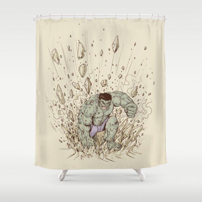 Hulk Smash Shower Curtain By Alexmdc
