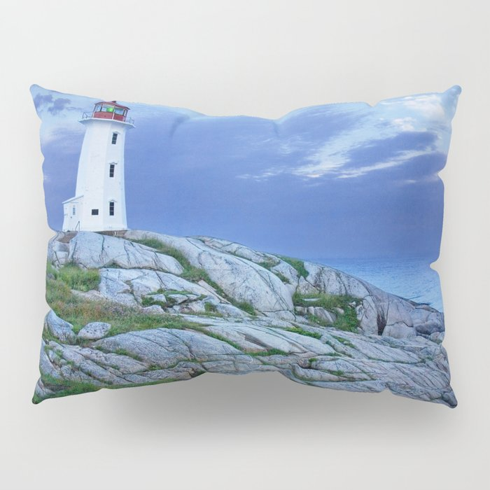 Lighthouse at Peggy's Cove in the Moonlight Pillow Sham