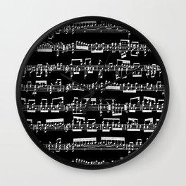 Sheet Music // Black Wall Clock