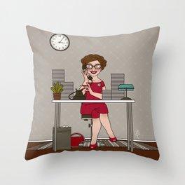 Sekretärin II Throw Pillow