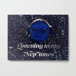 "Listening to my Nep""tunes""- Hxlxynxchxle Metal Print"
