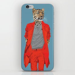 Leopard wearing Costume National iPhone Skin