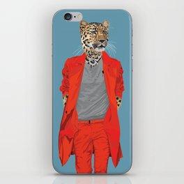 Leopard wearing Costume National iPhone Skin