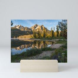 Sunrise at Stanley Lake in the Sawtooth Mountains of Idaho Mini Art Print