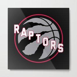 Raptors custom black logo Metal Print