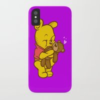 pooh iPhone & iPod Cases featuring Pooh And Teddy by Artistic Dyslexia