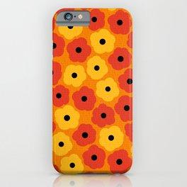 Mid Century Modern Poppy Flowers iPhone Case