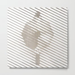 Moka Pot Gesso Metal Print
