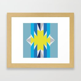 SUN_Yellow Star_Summer - Style Me Stripes Framed Art Print