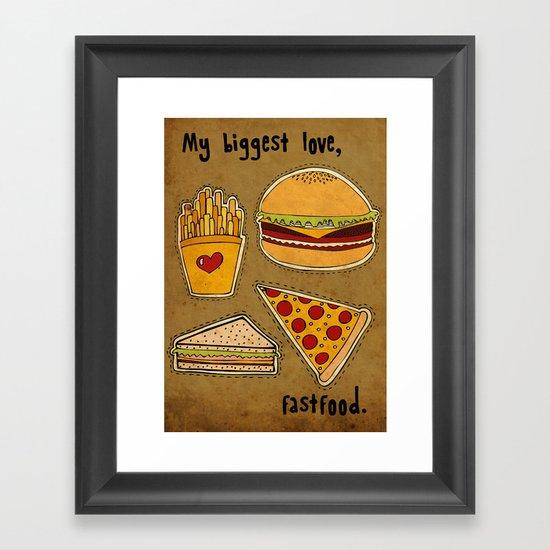 My Biggest Love Framed Art Print