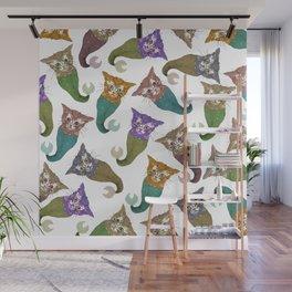 Cat Piranhas Wall Mural