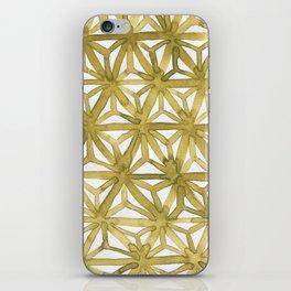 Gold Asanoha iPhone Skin