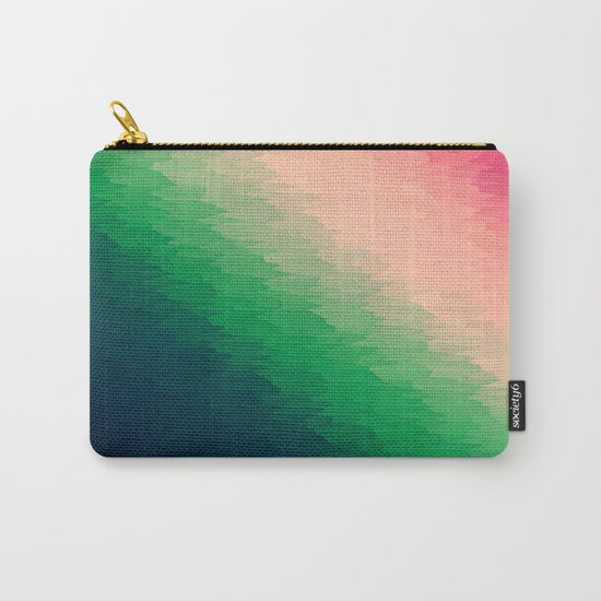 Deconstructed Pink Rose TEXTURE Carry-All Pouch