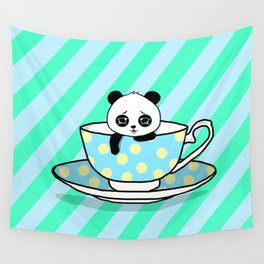 A Tired Panda Wall Tapestry