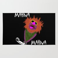 muppet Area & Throw Rugs featuring Mahna Mahna....great Muppet! by Linda V.