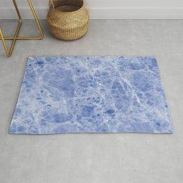 Juliette blue marble Rug