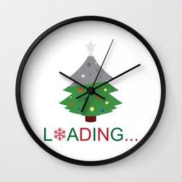 Christmas Loading Wall Clock