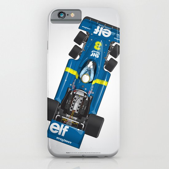 Outline Series N.º3, Jody Scheckter, Tyrrell-Ford 1976 iPhone & iPod Case