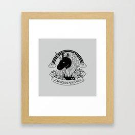 Hardcore Unicorn Framed Art Print