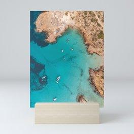 Aerial Ibiza Coast Mini Art Print