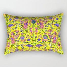 The Pug of Folk Watercolor Rectangular Pillow