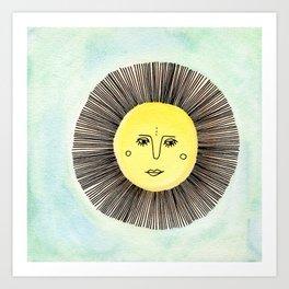 Celestial Solo Sun Art Print