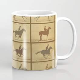 Time Lapse Motion Study Horse muted Coffee Mug