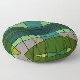 Green Pattern Turtle Floor Pillow
