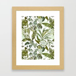 Wild botany in the jungle Framed Art Print