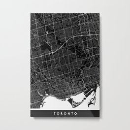 Toronto - Minimalist City Map Metal Print