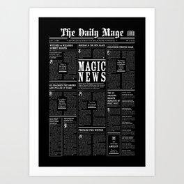 The Daily Mage Fantasy Newspaper II Art Print
