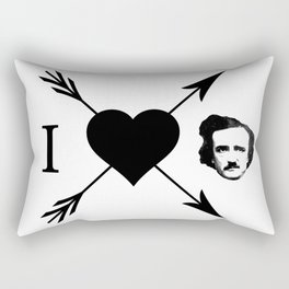 I Love (Heart) Edgar Allan Poe Rectangular Pillow