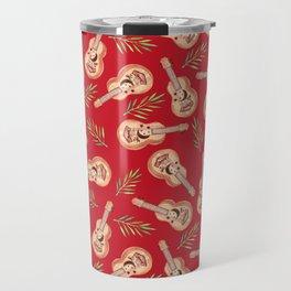 Rappa's ukelele on red Travel Mug