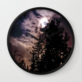 Sky & trees Wall Clock