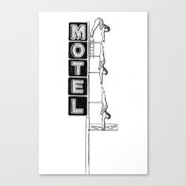 Motel Diving Lady Canvas Print