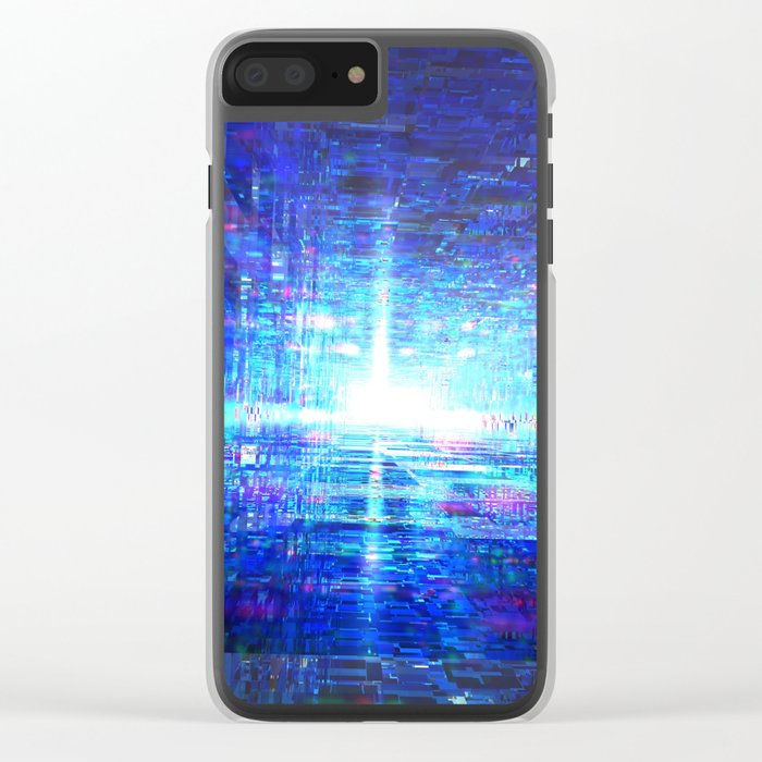 Blue Reflecting Tunnel Clear iPhone Case