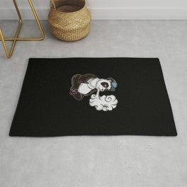 Vaping Panda Bear Illustration | Animal Vape Rug