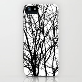 Tree Branches in B&W iPhone Case