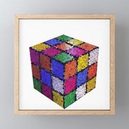 The color cube Framed Mini Art Print