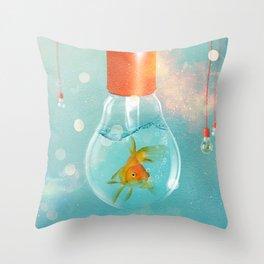 Goldfish Ideas Throw Pillow