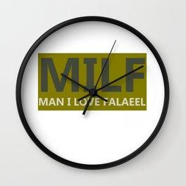 Funny  Jewish Falafel  Print Wall Clock