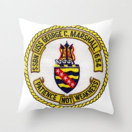 USS GEORGE C. MARSHALL (SSBN-654) PATCH Throw Pillow